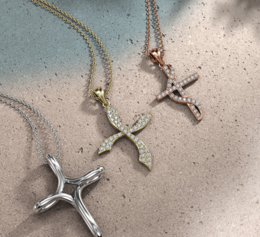 Cross Necklace Social Media Rendering