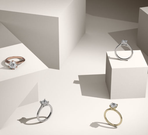 Engagement Rings Social Media Rendering