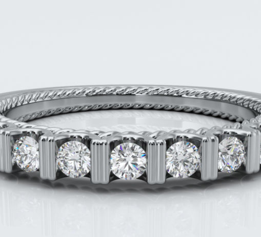 Eternity Diamond Ring in White Gold