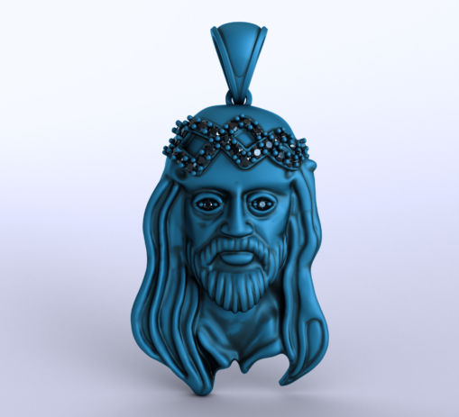 Jesus Pendant Necklace Sculpting