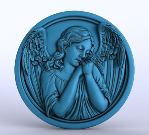 Angel Portrait Pendant Sculpting
