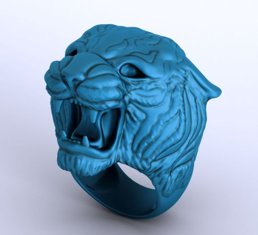 ZBrush Tiger Ring Sculpting