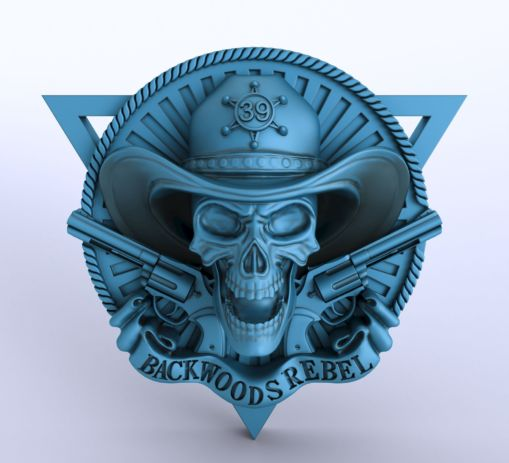 Digital Sculpting of Skeleton Logo