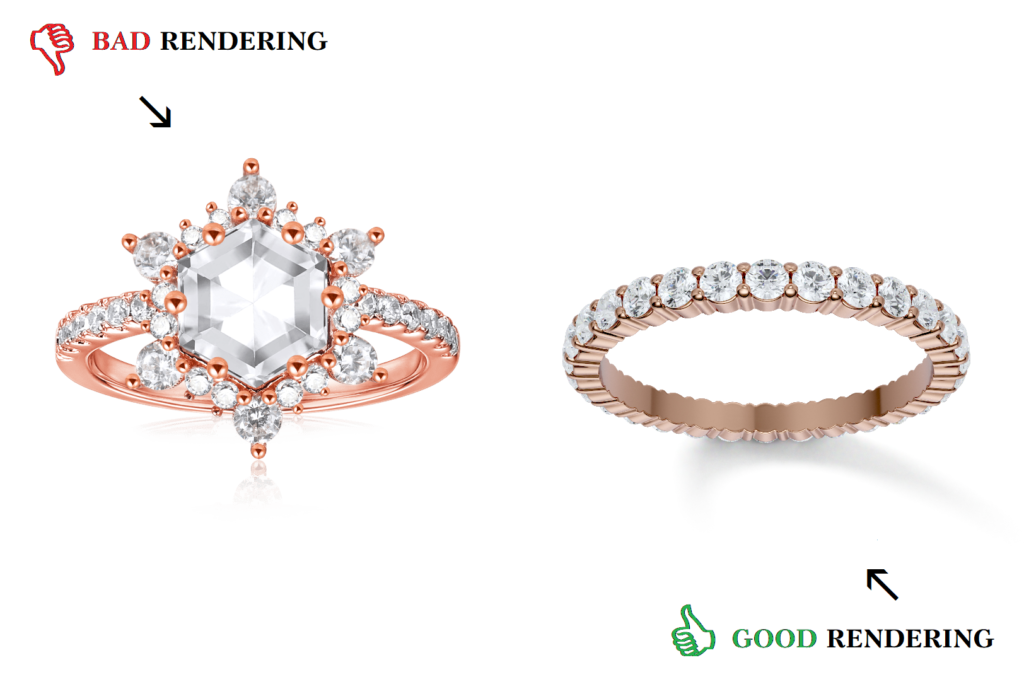 Ring rendering good vs bad